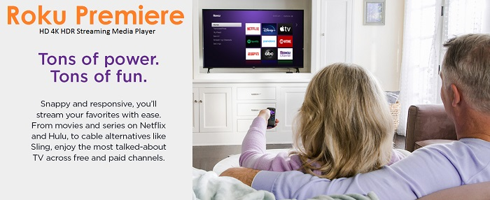 Roku Premiere - 4K HD HDR Streaming Media Player