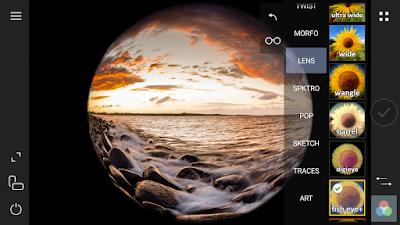 Tampilan Aplikasi Cameringo+ Filter Efek-efek Kamera