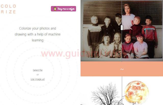 Sito web Colorize