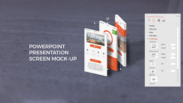 App Screen Mock-ups in Best Powerpoint Templates Slide 2