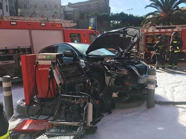 Imagenes espectacular accidente en Paseo de Chil, 24 octubre