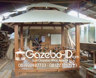 Gazebo Kanvas Jati Jepara