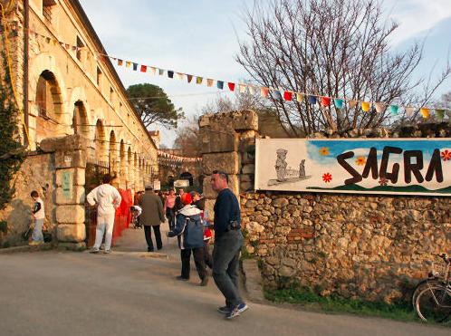 Italian sagra sign