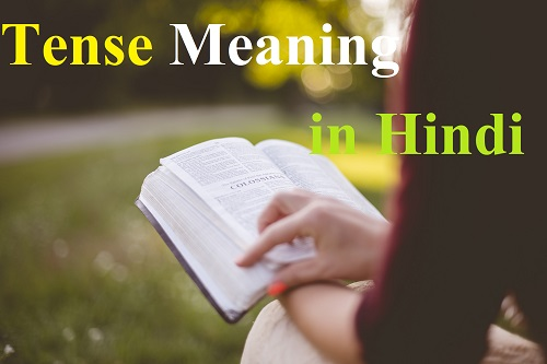 Tense meaning in hindi