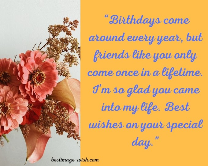 Happy birthday wish for best friend | Meaningful Birthday message for best friend