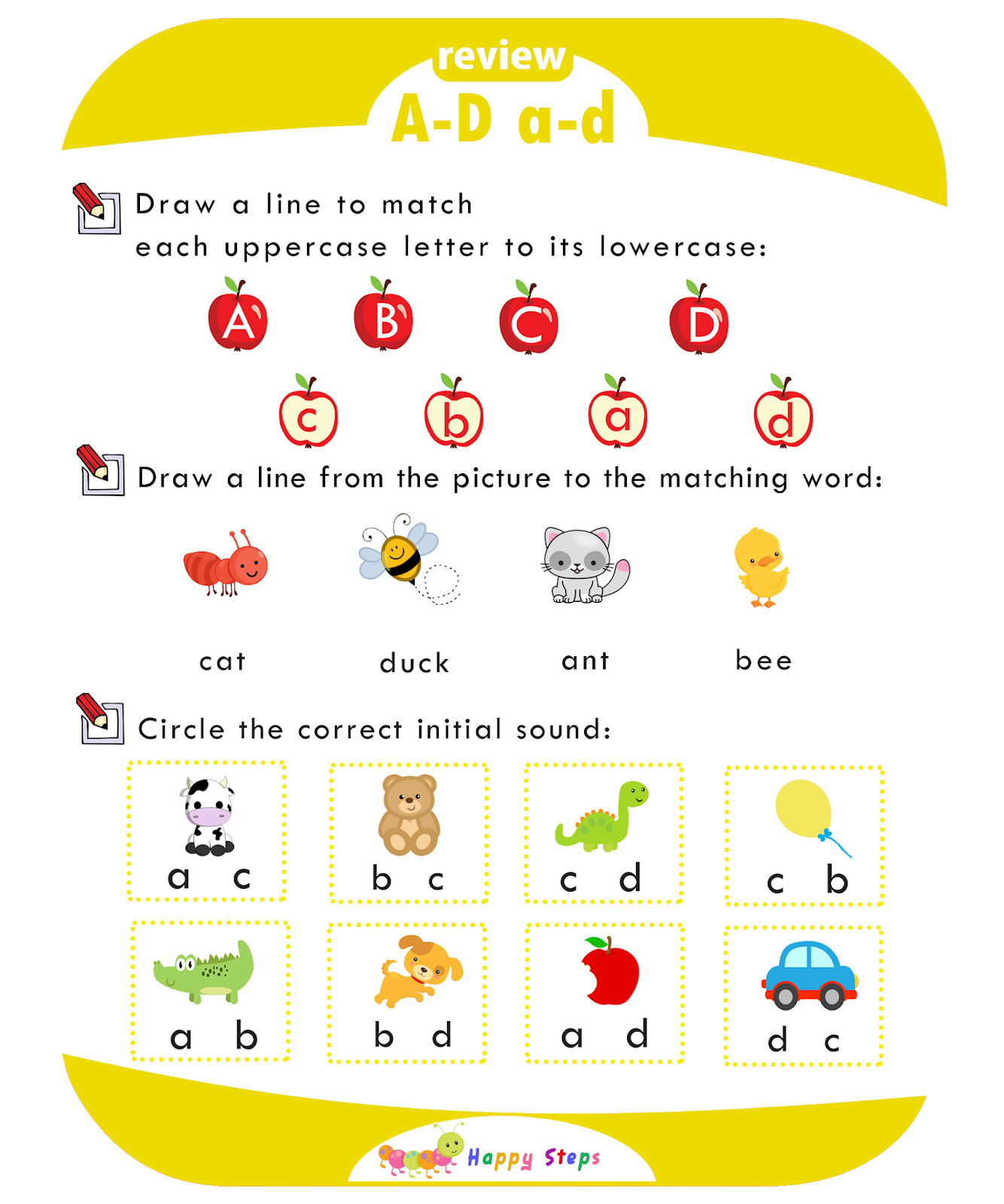 Review Alphabet Worksheet A
