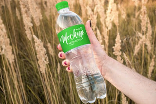template mockup botol air gratis - kanalmu