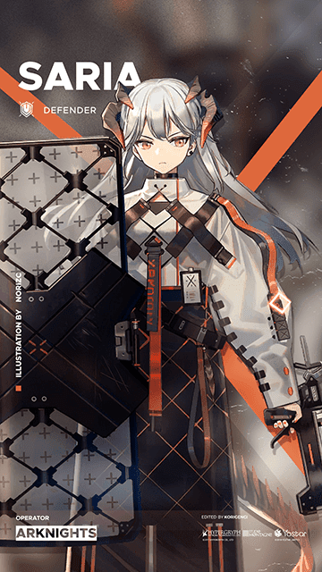 Saria - Arknights Wallpaper