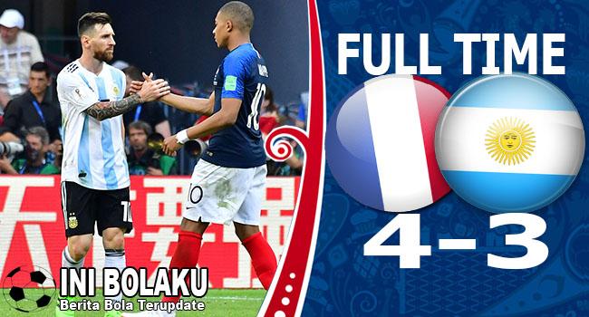 Hasil Perancis vs Argentina Skor Akhir 4-3 | 16 Besar World Cup 2018