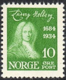 Norway 1934 10 Øre Ludvig Holberg