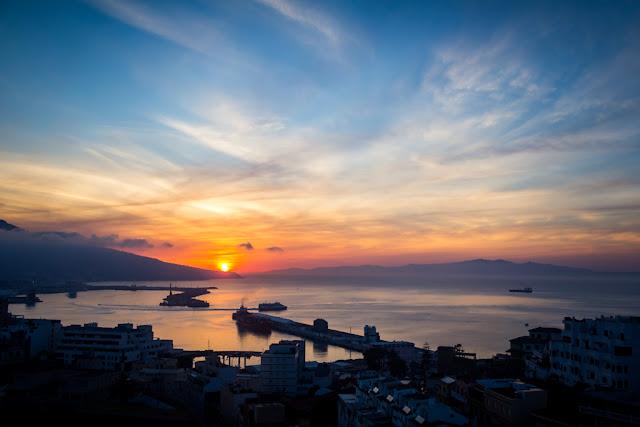 Vista del puerto de Ceuta
