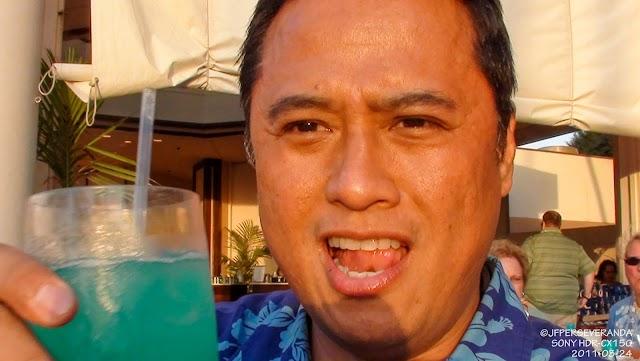 Drinking Blue Hawaii's - Westin Maui Resort