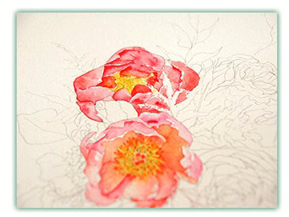 Bride Bouquets - by Watercolor Painting