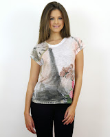 Tricou Eiffel Girly