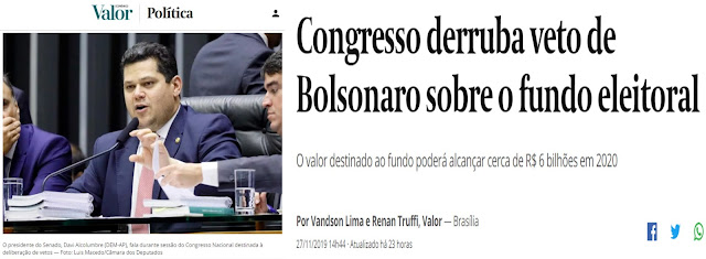 O TRISTE CENÁRIO DO BRASIL: Povo antipatriota e um Congresso usurpador