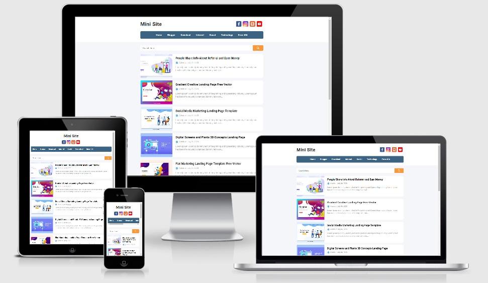 Mini Site Responsive Blogger Template