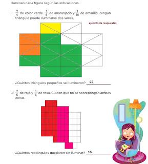 Respuestas Apoyo Primaria Desafíos Matemáticos 4to. Grado Bloque II Lección 29 Partes de un todo