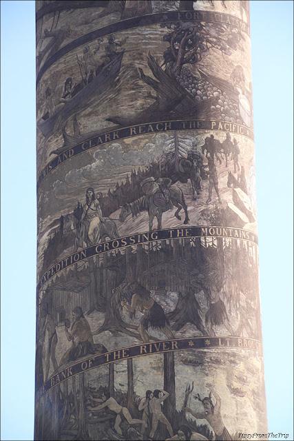 Sgraffito on Astoria Column