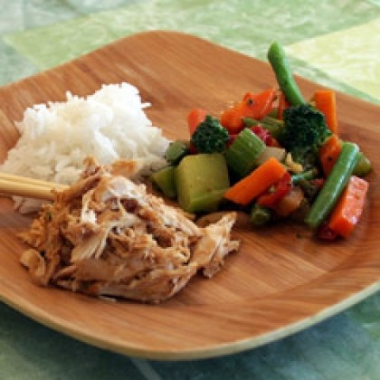 Peanut Sauced Chicken and Vegetables