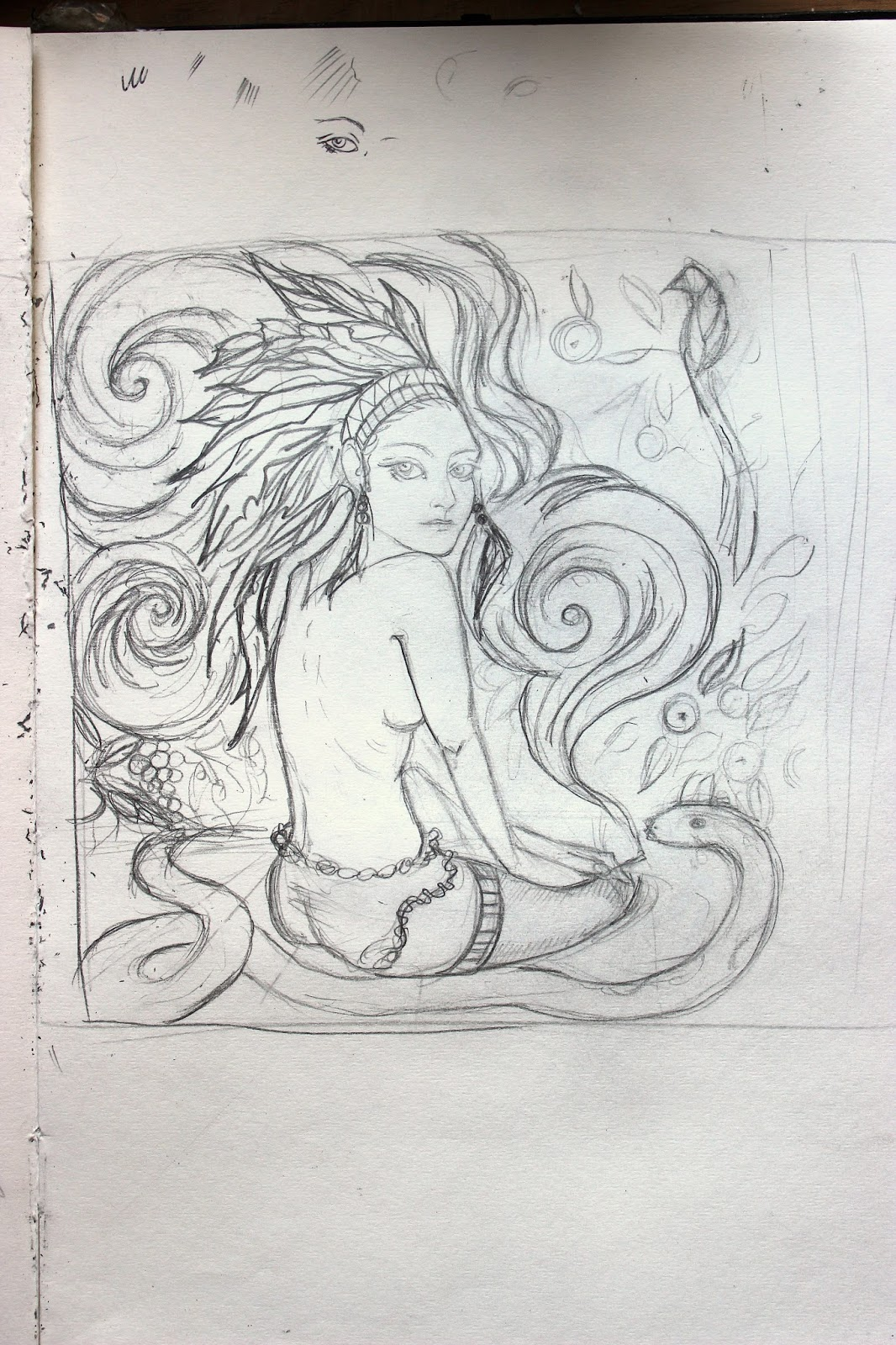 Drawing Sketch Illustration Pencil Sketchpad Notebook Smoking Nude Indian