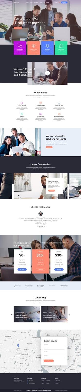 Startup Business PSD Template