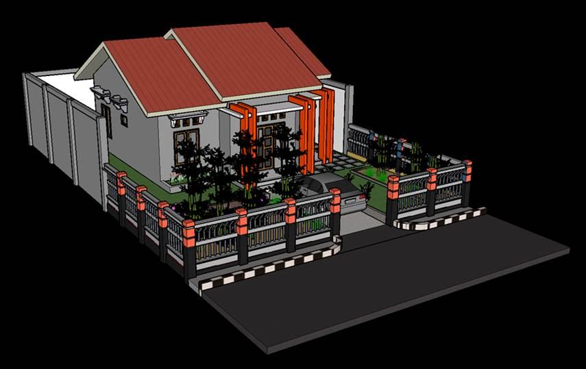 Gambar rumah 3 trap modern berteras minimalis