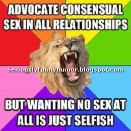 sexual funny meme about consensual sex in relationships