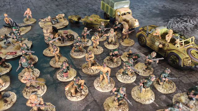 Bolt Action Italian army painted to Africa