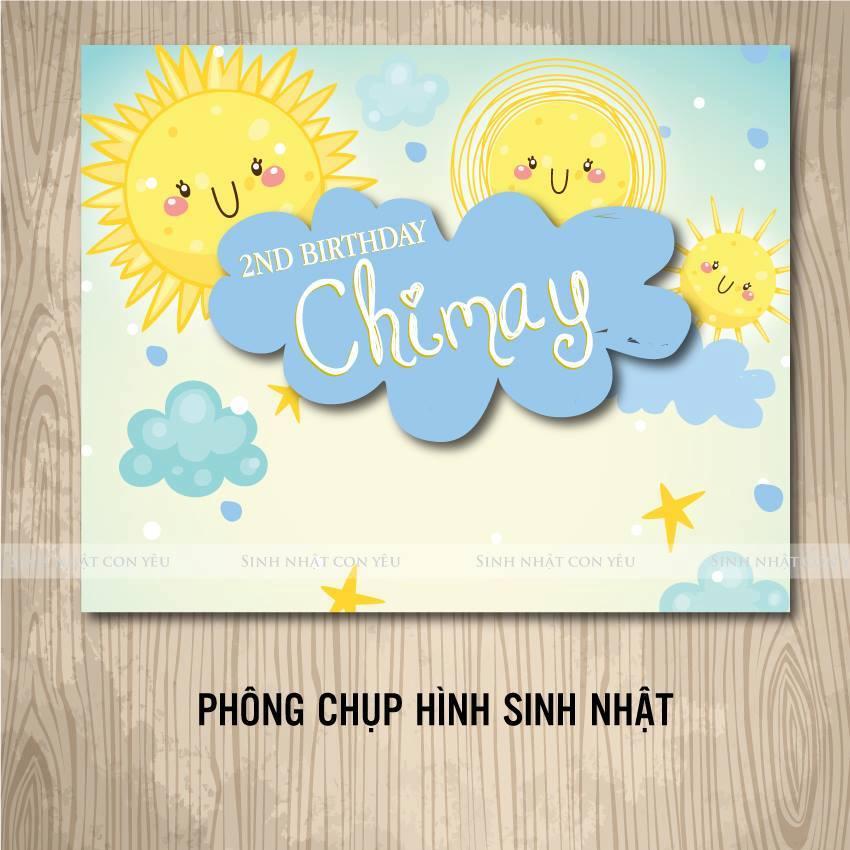 Phong chup hinh sinh nhat theo chu de Mat Troi Vang
