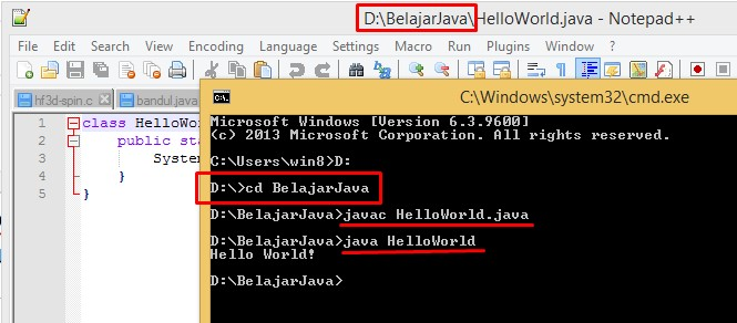Cara Compile Program Java