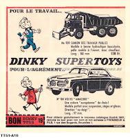Dinky Toys, pour le travail... publicité de 1961