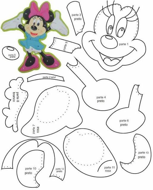 13- Minnie presentando Moldes para Descargar