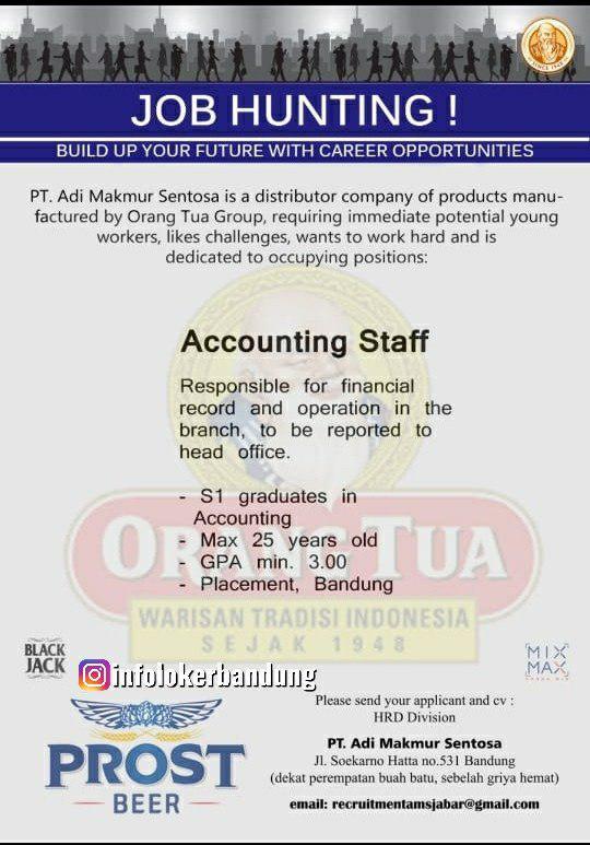 Lowongan Kerja Accounting Staff PT. Adi Makmur Sentosa Bandung Agustus 2019
