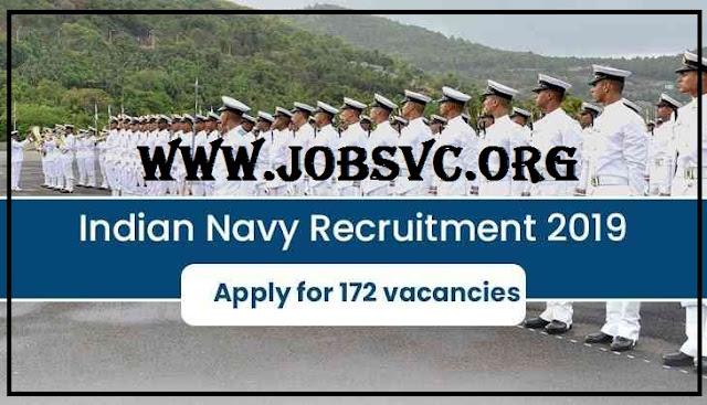 Indian Navy Recruitment (2019) - 172 Posts of Apprentice