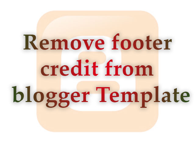 blogger footer credit