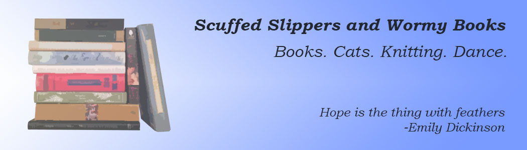 Scuffed slippers and wormy books....