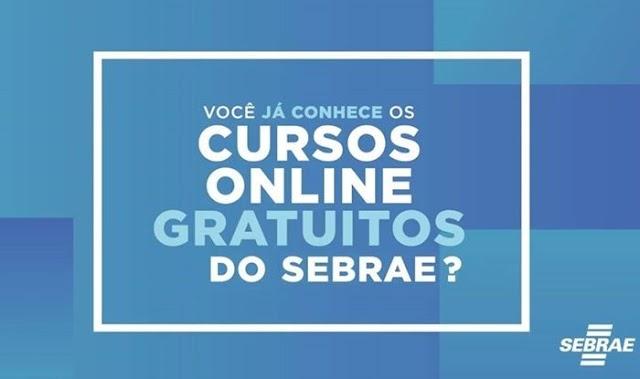 Sebrae abre inscrições para vagas em cursos gratuitos  EAD;  Confira como participar .
