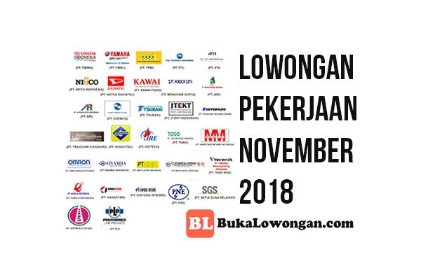 LOWONGAN PEKERJAAN TERBARU NOVEMBER 2018