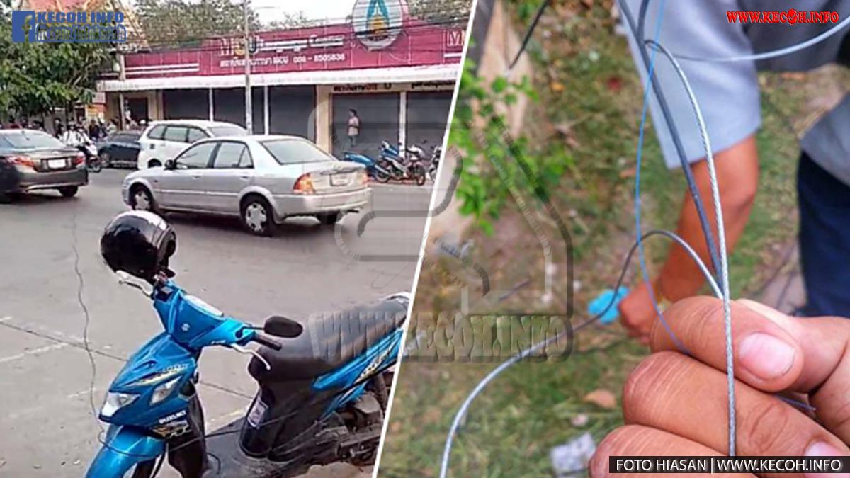 Penunggang Motosikal Maut Kerana Terjerut Kabel Ketika Sedang Memandu