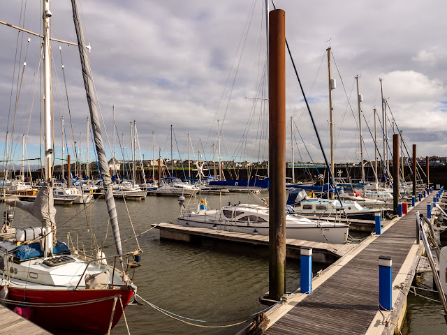 Photo of dry and bright weather at Maryport Marina today (Friday)