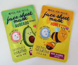 Action Face Sheet Mask Honey ExtractFace Sheet Mask Avocado Extract