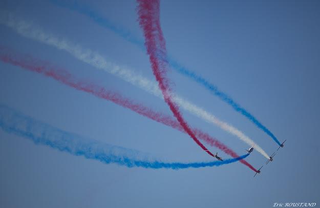 En Anglet. Patrulla de Francia. Exhibición aérea.