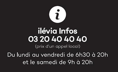 Horaires permanence Téléphone Ilévia Tourcoing