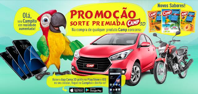 """Promoção: """"Sorte premiado Camp 3D"""""""
