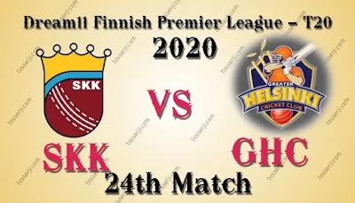 Who will win SKK vs GHC 24th T20I Match