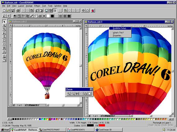 Sejarah CorelDRAW - CorelDRAW Versi 6.0 (1996)