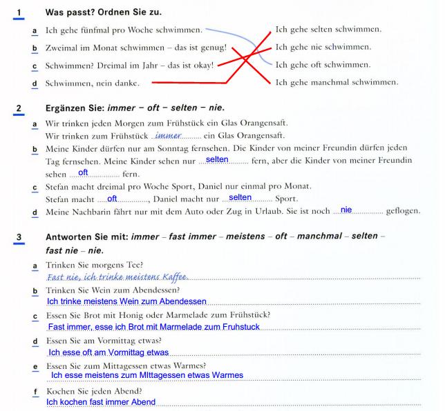 Kommunikation 1 Moderne Sprachen Deutsch Arbeitsblatt 2