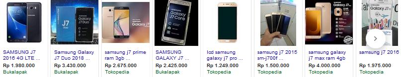 Harga Samsung J7 Terbaru 2018