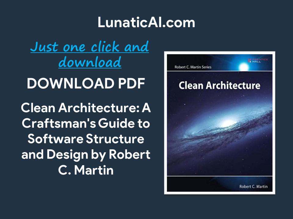 Clean Architecture PDF Github