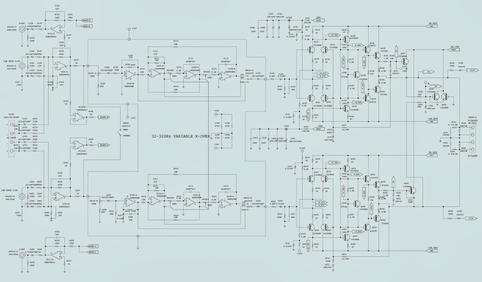 Infinity 7540a 7541a 4 Channel Car Amp Circuit Diagram Power ...